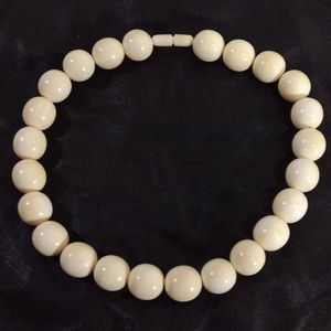 Antique  Pre-Ban Ivory Beaded Choker Necklace